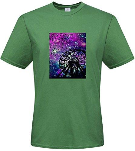 DIY mens Galaxy boardwalk T-shirts,custom cotton Tshirt