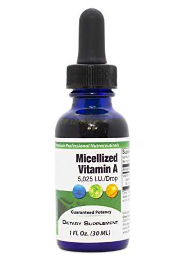 Micellized Vitamin A | Combines 5,025 IU of Vitamin A Palmitate & Beta-Carotene Per Drop | Supports Healthy Skin, Vision, Immunity | Potent Liquid Form for Best Absorption | 1 Fl Oz. by GL Nutrition
