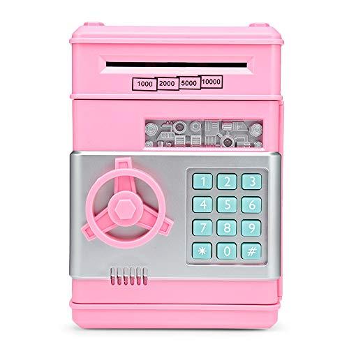 KODZY Global Saving Bank ATM Money Box Electronic Password Chewing Coin Cash Deposit Machine Pig Pink