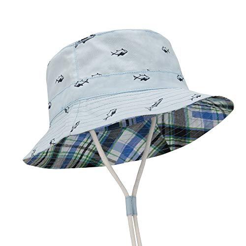 Durio Baby Hat UPF 50+ Sun Protection Baby Boy Hats Summer Cute Kids Toddler Sun Hat Cap Gifts for Baby Girl Bucket Hats Blue Sun Hat 19.7