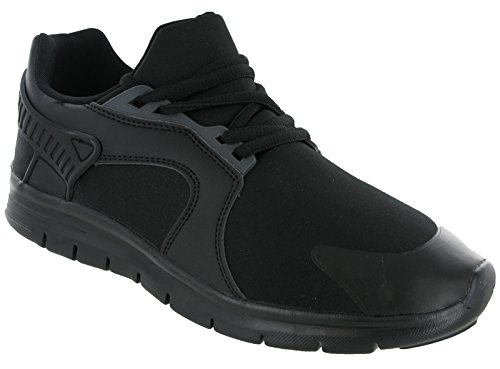 Jogging Up Running Black Renegade Black Lightweight Mens Trainers Mesh Padded Lace Mens ztXvvW