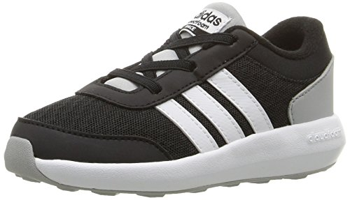 (adidas Men's Cloudfoam Race (Infant/Toddler) Sneaker Black/White/Clear Onix 5 M)