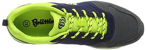 Bruetting Advantage - zapatilla deportiva de material sintético hombre azul - Blau (marine/anthrazit/lemon)