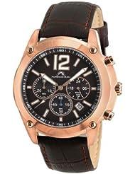Porsamo Bleu Nathan Genuine Leather Rose Tone & Brown Men's Watch 641CNAL
