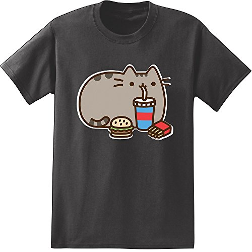 Pusheen the cat fast food adult t shirt medium buy for Fast delivery custom t shirts