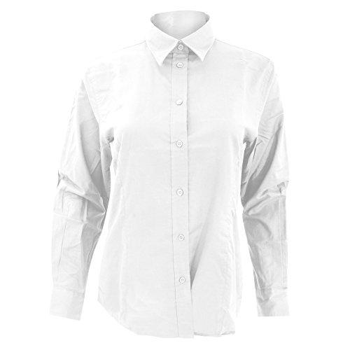 Kustom Kit- Camisa Oxford de manga larga de trabajo para mujer Rojo