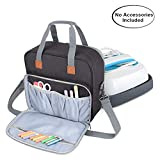 Luxja Carrying Case Compatible with Cricut Easy Press (9 inches x 9 inches), Tote Bag Compatible with Cricut Easy Press and Supplies (No Accessories Included), Black