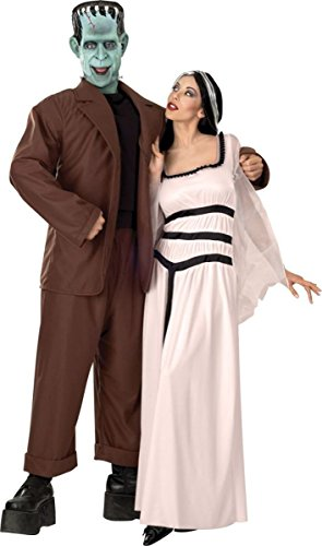 UHC Women's Lily Munster Velvet Gown w/ Wig Adult Halloween Fancy Costume, OS (Munsters Halloween Costumes)