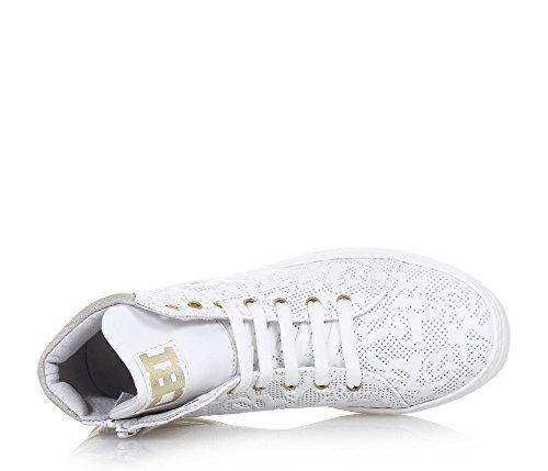 CIAO BIMBI - Zapatilla de cordones blanca, de cuero, la atención a cada detalle, Niña, Chica, Mujer