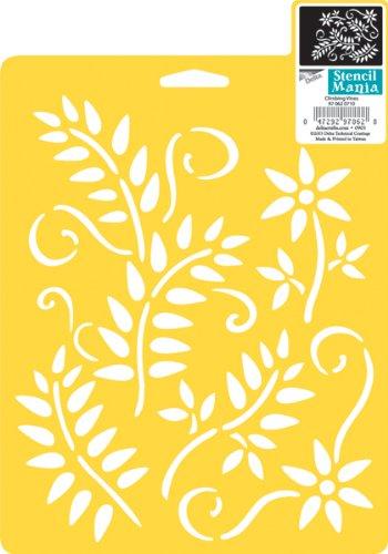 Delta Creative 970620710 Stencil Mania Stencil, Climbing Vines, 7 x 10-Inch, Yellow