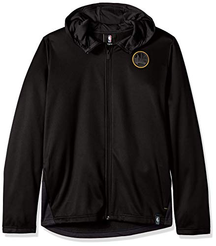 (Outerstuff NBA NBA Youth Boys Golden State Warriors Ballistic Hooded Jacket, Black, Youth Medium(10-12))
