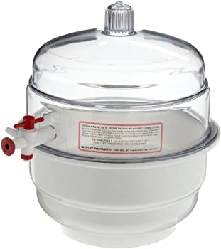 "Bel-art ""Space Saver"" Polycarbonate Vacuum Desiccator With White Polypropylene Bottom; 0.20 Cu. Ft. (F42020-0000) 1"