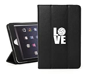 Apple iPad Mini Black Faux Leather Magnetic Smart Case by ruishername