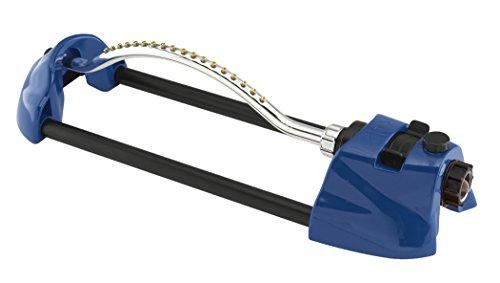Dramm 15005 ColorStorm Premium Metal Oscillating Sprinkler with Brass Nozzle Jets, Blue