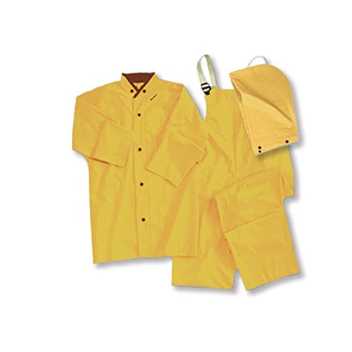 ERB 14355 4035 3 Piece Rainsuit, Yellow, 4X-Large