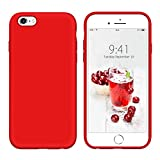 YINLAI iPhone 6S Plus Case Liquid Silicone Red, iPhone 6 Plus Case, Slim Soft Gel Rubber Cover Microfiber Cloth Lining Cushion Lightweight Drop Protection Durable Phone Cases for iPhone 6S/6 Plus, Red Reviews
