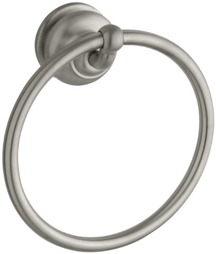 (KOHLER K-12165-BN Fairfax Bathroom Towel Ring, Vibrant Brushed Nickel )