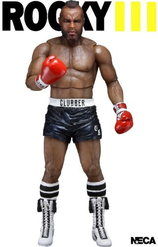 Neca Rocky 3 Clubber Lang with Black Shorts Action Figure