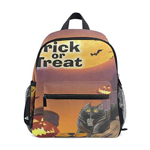 Celebration Of Halloween Cat School Backpack For Boys Kids Preschool School Bag Toddler Bookbag]()