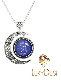 HOROSCOPE Necklace Zodiac Sign pendant Zodiac necklaces Constellation jewelry Art gift for men for women
