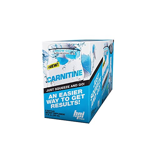 BPI Sports Carnitine Snow Cone, Liquid Water Enhancer, 6 Bottles, 24 Servings