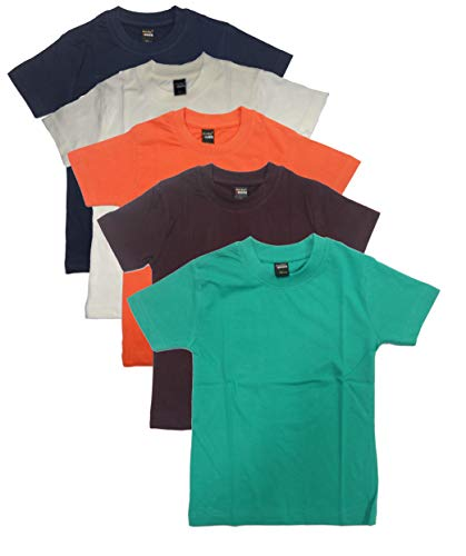 New Day Boys Cotton Plain T-Shirt (Pack of five)