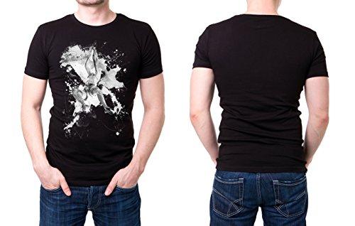 Klettern_I schwarzes modernes Herren T-Shirt mit stylischen Aufdruck