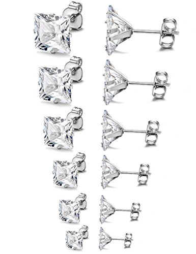 Jstyle Stainless Womens Earrings Zirconia