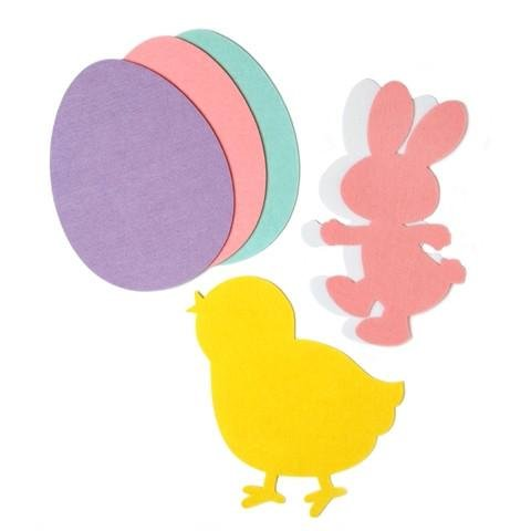 BestPysanky Set of 6 Felt Easter Decoration Cut Outs 12 Inches -