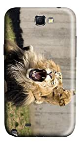 free covers playful lion cub PC case/cover for samsung galaxy N7100/2