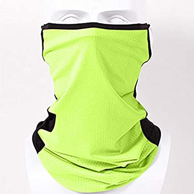 Missli Crcling Scarf Bandana with Ear Loops, Breathable Rave Balaclava Men Women Neck Gaiters Tube Headwear Face Scarf for Dust Wind : Sports & Outdoors