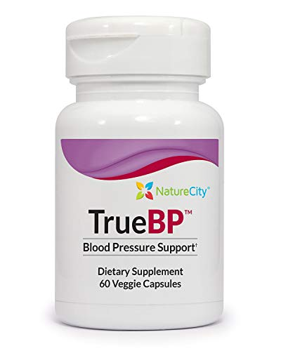 TrueBP Blood Pressure Support With Olive Leaf, Grape Seed, Aronia Berry Extract – 60 Veggie Capsules