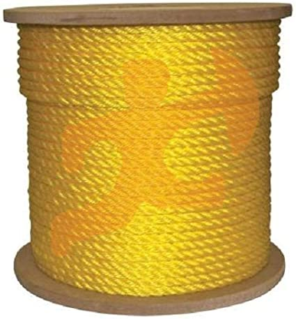 Mold Yellow Floating Poly Pro Cord by Xpose Safety Rot Easy Knot 1200 ft Twisted Polypropylene Rope Flexible Marine Growth and Chemicals Reduced Slip Resistant to Oil 1//4 Moisture