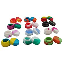 Gentcy 100pcs 3ml Silicone Container Oil Wax Lid Dab Silicone Seals Jar CDN$0.52/pcs Multi Color