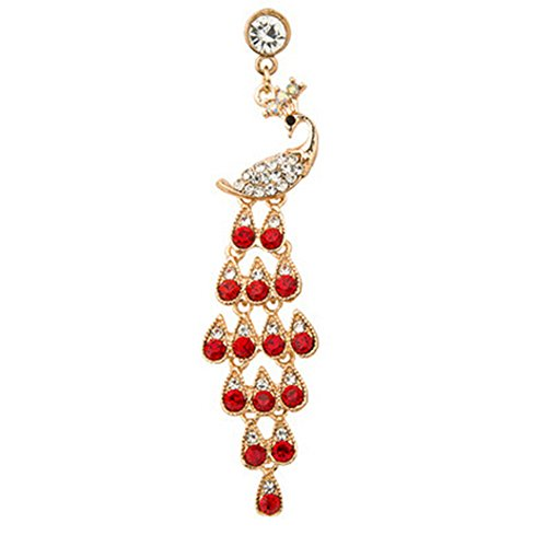 Spritech(TM Bling Crystal Pendant Design Phoenix Pattern Mini Headphone Accessory Dust Proof Plug-Earphone for iPhone 6s Plus/6 Plus iPhone 6/6s 3.5mm Ear Jack Series and More Red