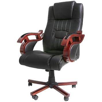 Chaise De Bureau Ergonomique Hauteur Reglable En Simili Cuir Et