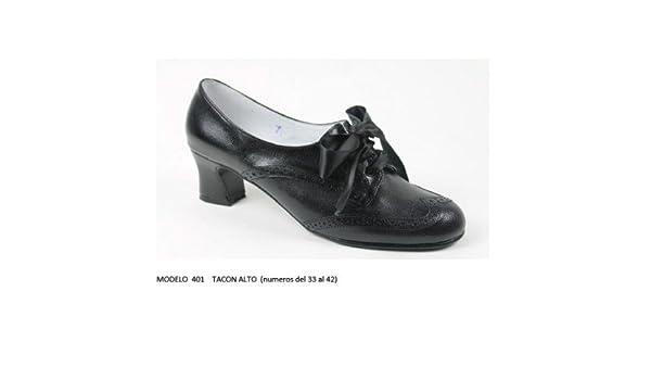 Zapato para Baile Traje Regional Tacón Alto: Amazon.es ...