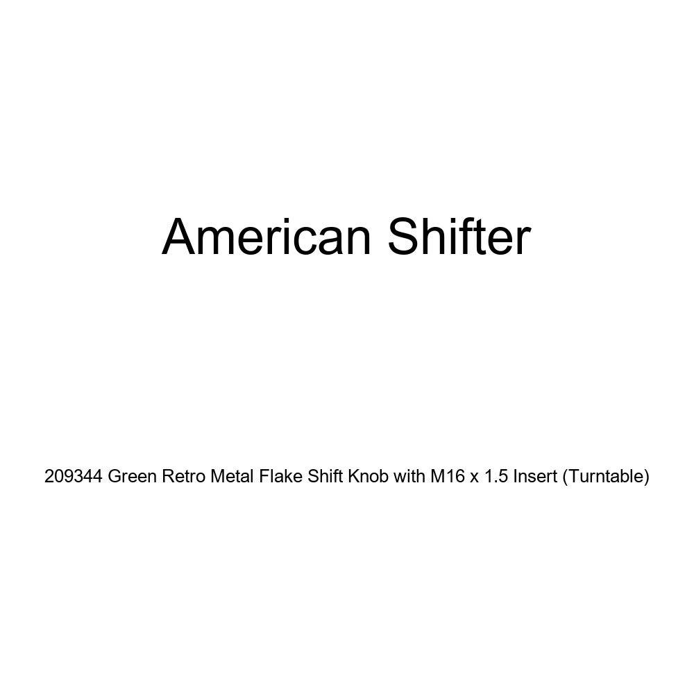 American Shifter 204451 Green Retro Metal Flake Shift Knob with M16 x 1.5 Insert Black Wheel of Dharma