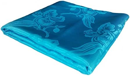 Songbai Satin Cool Summer Blanket (72'x80', Turquoise)