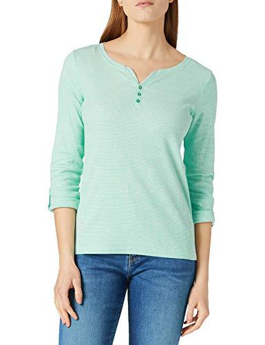 TOM TAILOR 1024036 Henley Striped dames t-shirt