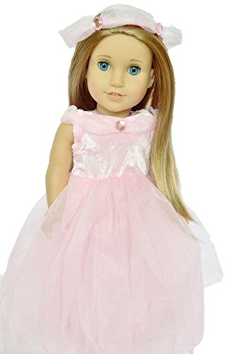 PINK PRINCESS WITH HALO DRESS FOR AMERICAN GIRL DOLLS by Brittany's