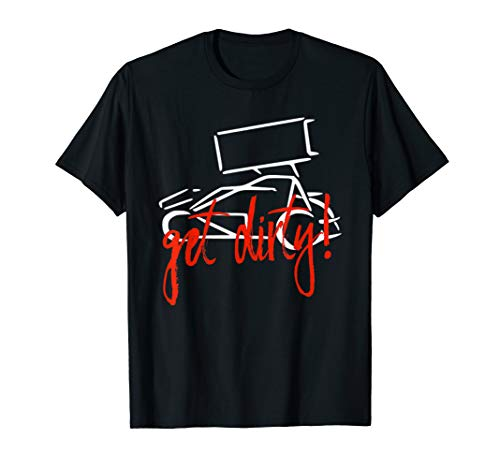 Get Dirty Winged Sprint Car Racing Dirt Track Racing