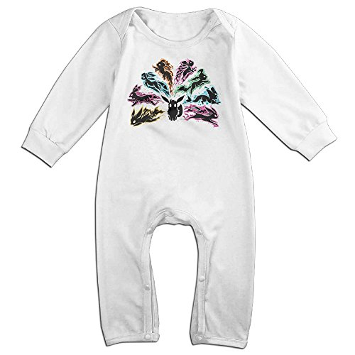 HOHOE Babys Pink Floyd Flareon Long Sleeve Baby Climbing Clothes White 6 M