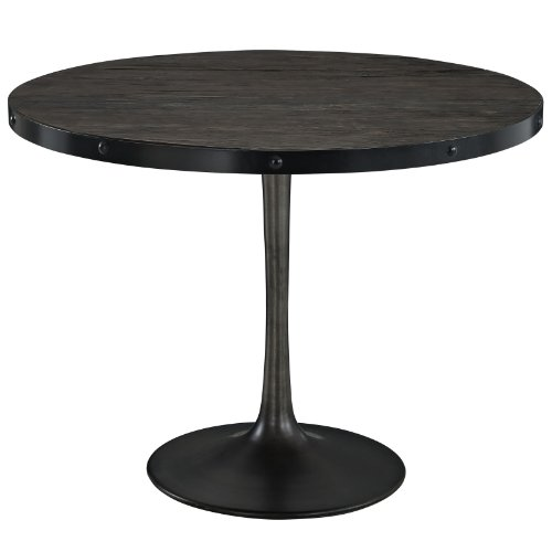 Modway Drive Wood Top Dining Table in Black