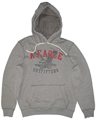 American Eagle Men's Hooded Sweat Jacket Hoodie Heather Grey (Small)