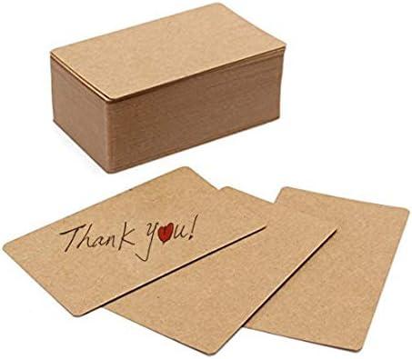 100pcs Blank Kraft papel tarjetas de visita tarjeta de mensaje ...