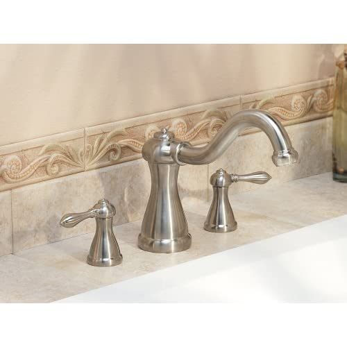 good Pfister Marielle 2-Handle High-Arc Roman Tub Faucet in Brushed Nickel