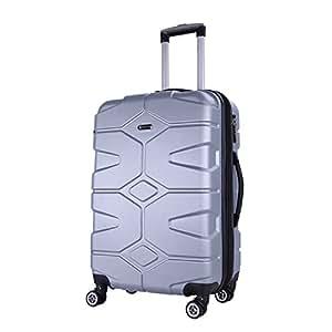SHAIK® Serie RAZZER Maletas De Viaje TSA CASTILLO 50/80/120 Capacidad De Litros Cubierta Dura Y Flexible Equipaje De Mano Con Ruedas 360⁰ De Rotación ...