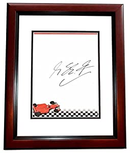 Michael Schumacher Signed - Autographed Formula One Driver 7 x 9.50 inch Stationary - MAHOGANY CUSTOM FRAME - Guaranteed to pass or JSA - PSA/DNA Certified from Real Deal Memorabilia