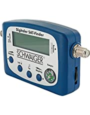 SCHWAIGER -5170- SAT-Finder digitaal | Satellietherkenning | Satellietzoeker met geïntegreerde kompas- en geluidsuitgang | Uitlijning LNB | Meetapparaat voor optimale positionering van de schotelantenne